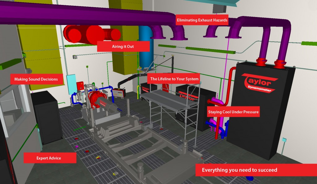 Engine Test Cell with Facility Support Systems